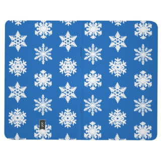 Ikat Snowflakes - Cobalt blue and white Journal