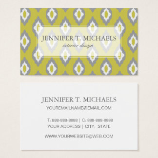 Ikat vintage pattern business card