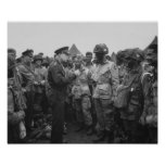 Ike Talking With Airborne On D-Day Print