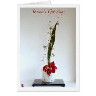 Ikebana-063 Season's Greetings Card