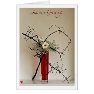 Ikebana-065  Season Greetings Card