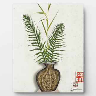ikebana 14 by tony fernandes plaque