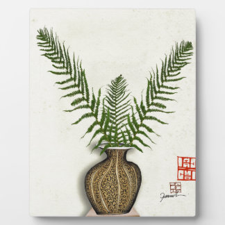 ikebana 17 by tony fernandes plaque