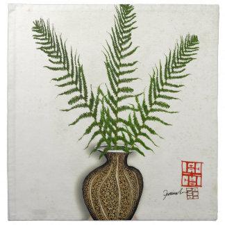ikebana 18 by tony fernandes napkin