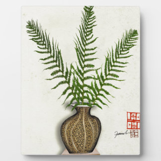 ikebana 18 by tony fernandes plaque