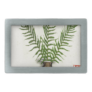 ikebana 18 by tony fernandes rectangular belt buckle