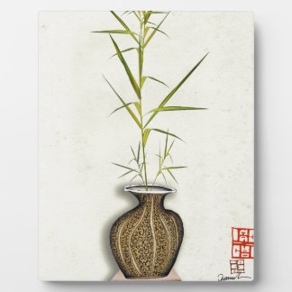 ikebana 19 by tony fernandes plaque