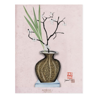Ikebana 1 by tony fernandes postcard