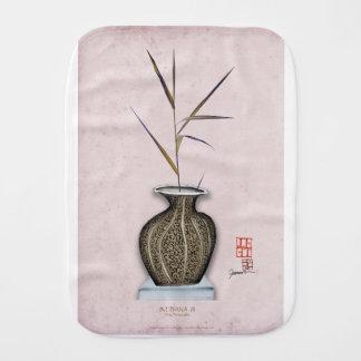 Ikebana 3 by tony fernandes burp cloth