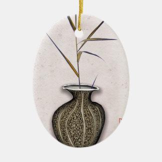 Ikebana 3 by tony fernandes ceramic ornament