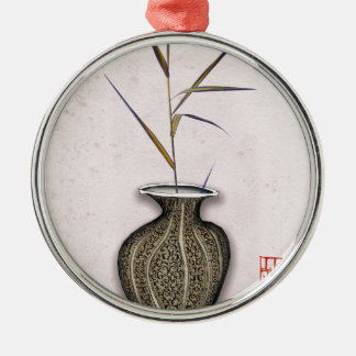 Ikebana 3 by tony fernandes metal ornament