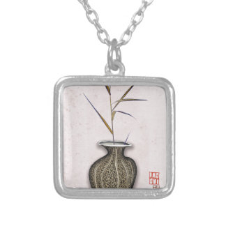 Ikebana 3 by tony fernandes silver plated necklace