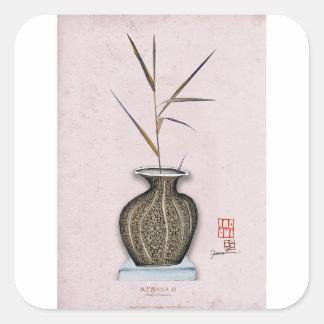 Ikebana 3 by tony fernandes square sticker