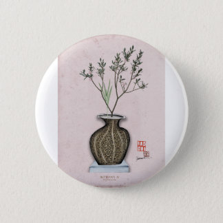 Ikebana 4 by tony fernandes 2 inch round button