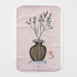 Ikebana 4 by tony fernandes burp cloth