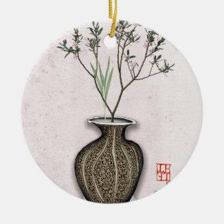 Ikebana 4 by tony fernandes ceramic ornament