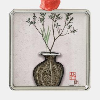 Ikebana 4 by tony fernandes metal ornament