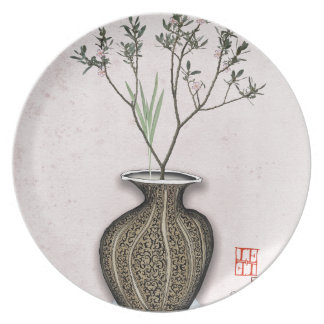 Ikebana 4 by tony fernandes party plates