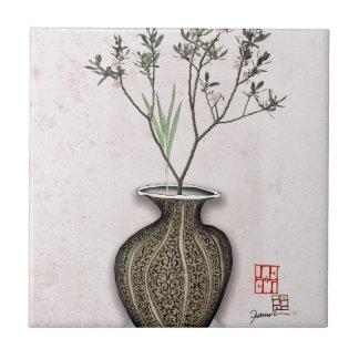 Ikebana 4 by tony fernandes tile