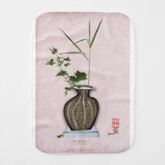 Ikebana 5 by tony fernandes baby burp cloths