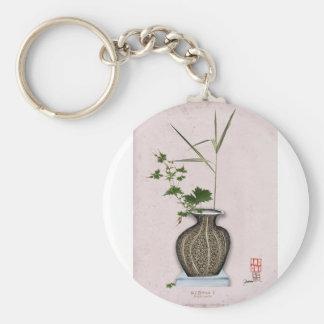 Ikebana 5 by tony fernandes basic round button keychain