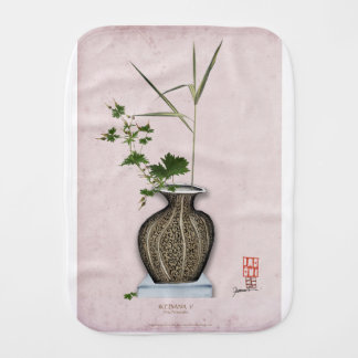 Ikebana 5 by tony fernandes burp cloth