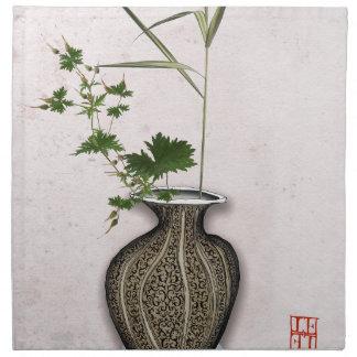 Ikebana 5 by tony fernandes napkin