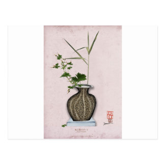 Ikebana 5 by tony fernandes postcard