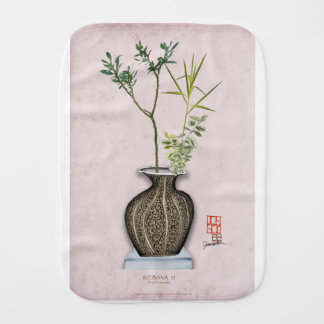 Ikebana 6 by tony fernandes burp cloth