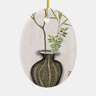 Ikebana 6 by tony fernandes ceramic ornament