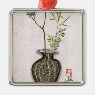 Ikebana 6 by tony fernandes metal ornament