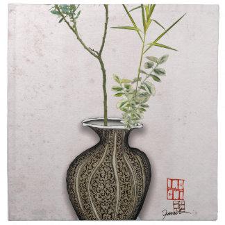 Ikebana 6 by tony fernandes napkin
