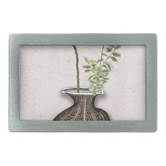 Ikebana 6 by tony fernandes rectangular belt buckles