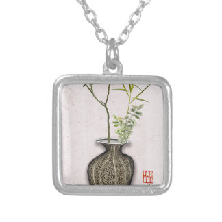 Ikebana 6 by tony fernandes silver plated necklace