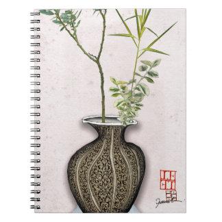 Ikebana 6 by tony fernandes spiral notebook