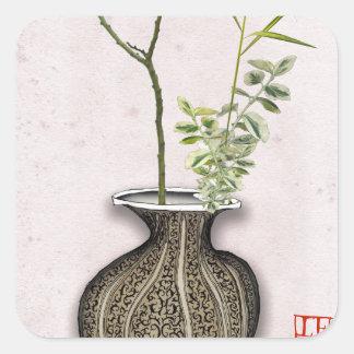 Ikebana 6 by tony fernandes square sticker