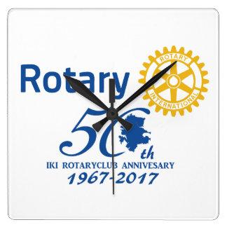 Iki rotary 50th anniversary commemoration square wall clock
