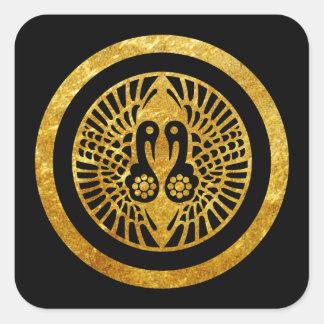 Ikko Ikki Mon Japanese clan gold on black Stickers