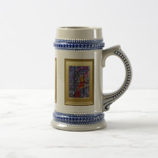 Ikons and Stained glass Beer Steins