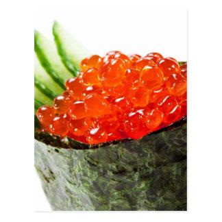 Ikura (Salmon Roe) Gunkan Maki Sushi Postcard