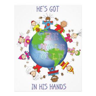 Il a le monde entier dans des ses mains en-tête de lettre