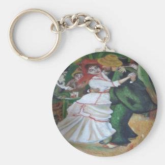il ballo basic round button keychain