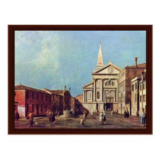 Il Campo E La Chiesa Di San Francesco Della Vigna. Postcard