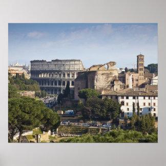 il Colosseum ou Colisé romain, à l'origine Poster