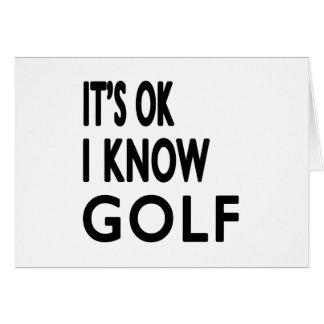 Il est CORRECT je savent la danse de golf Carte De Vœux