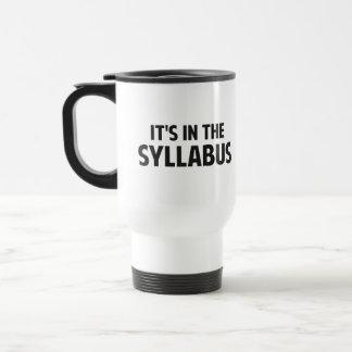 Il est dans le programme mug à café
