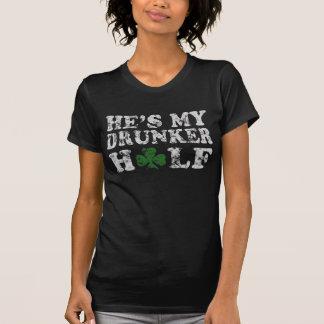 Il est mon des couples de jour de Drunker demi de T-shirt