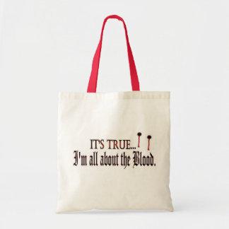 Il est vrai, je suis tout au sujet du sang sac en toile budget