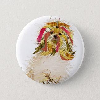 Il Love Lhasa apso 2 Inch Round Button