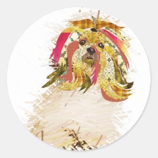 Il Love Lhasa apso Classic Round Sticker